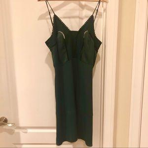 Silky viscose H&M summer dress hunter green so 10